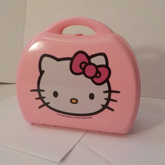Hello Kitty Other - Hello Kitty Lunch Box Plastic Pink Vintage